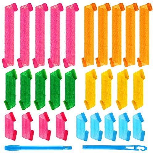 28 Piezas Conjunto de Rizadores del Cabello Rulos de Pelo en Espiral Rodillos de Pelo Bricolaje Rizador de Estilo Espiral Rizadores...