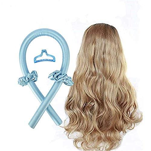 Rulos grandes para el pelo, pelo largo, sedoso, rulos para el pelo, rizador para la cinta
