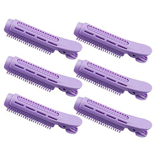 6 unids auto agarre rodillos de pelo volumen raíz clip rodillo onda mullido clip de pelo mullido peinado clip herramienta
