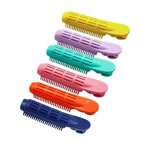 Colorido Rizador De Pelo Esponjoso Clip de Rizador de Raíz Herramienta para Peinar el Cabello Ondulado y Esponjoso Rodillos Pinzas Volumen...