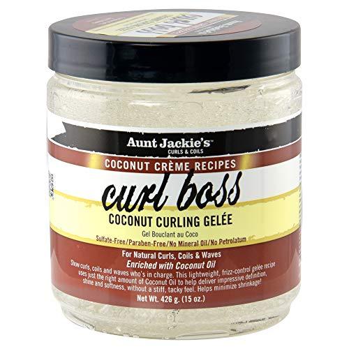 Tía Jackies Coconut Creme Curl rizador de Boss Glee espumas, 426g