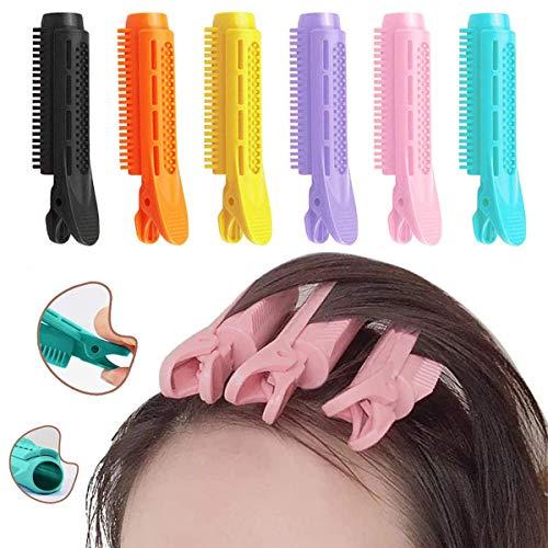SUNSK Pinza para la Raíz del Cabello Volumen Pelo Pinza Esponjosas Onduladas Pelo Rizador Clip DIY Herramientas Peinar el Hair 6 piezas