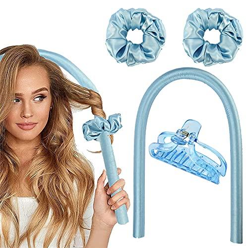 Furado Rizadores de pelo,Rizadores de espuma,Rizadores de Pelo de Onda de cinta,Diadema de vara de curling sin calor Diadema suave...