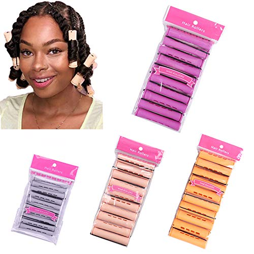40 varillas para permanente Jumbo, grande, mediano, pequeño, rizador, varillas para permanente para cabello natural, varillas de onda...