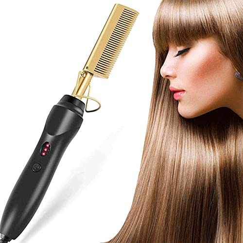 Cepillo alisador de pelo, profesional, alisador de pelo, rizador 2 en 1, con tecnología de iones, plancha de pelo con revestimiento de...