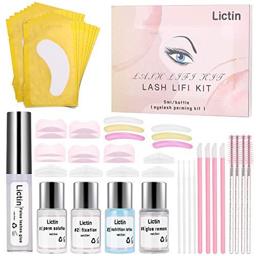 Lictin Kit de Permanente de Pestañas-Lifting Pestañas con Herramientas Completas Kit Lifting Pestañas Lash Lift Kit Eyelash Perming Kit...