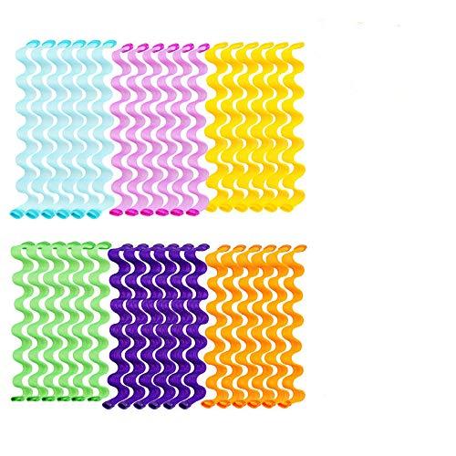 PROVO 36 piezas rizadores de mágicos en espiral, rizadores de pelo sin calor, Rulos de Pelo Kit de Peinado de Rizos Espiral para mujeres y...