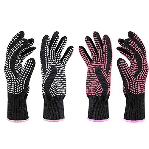 4 guantes resistentes al calor, guantes de protección, guantes de calefacción, guantes resistentes al calor, guante resistente al calor...