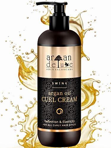 Argan Deluxe Crema de aceite de argándefinidora de rizos con acabado de peluquería 300 ml- MÁS CONTENIDO - Altamente hidratante, para...