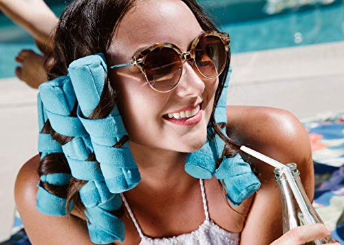 Allstar Innovations Sleep Styler: los rizadores de pelo nocturno sin calor para cabello largo, grueso o rizado, grande (rodillos de 6...