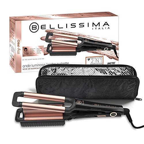 Imetec Bellissima My Pro Beach Waves GT20 300 - Plancha para el pelo con revestimiento de cerámica para hacer ondas anchas y estrechas,...