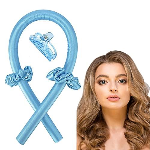 Rizador sin calor Diadema sin rizos de calor Cinta de seda Rodillos para el pelo Herramientas para el peinado del cabello DIY para cabello...