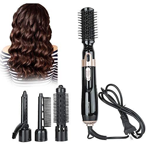 Juego de cepillos giratorios de aire caliente con 3 accesorios de peinado, cepillo de aire caliente Cepillo de aire caliente de múltiples...