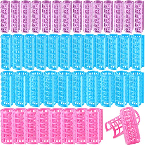 44 Rulos de Plástico de Cabello Rodillos de Agarre Automático Rulos de Rizadores de Peluquería de Presión Rizadores de Cabello sin Calor...