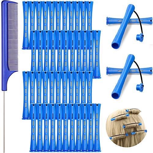 48 Varillas de Permanente de Pelo, Varillas de Onda Fría de 0,35 pulgadas/ 0,9 cm Rulos Barras de Permanente de Plástico Rizadores de...